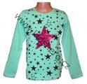 Měnící tričko, tunika - dl.rukáv - zelené - hvězda - malé