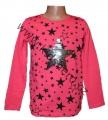 Měnící tričko, tunika - dl.rukáv -sv. růžové - hvězda - malé