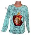 Měnící tričko, tunika - dl.rukáv - zelené - jablko