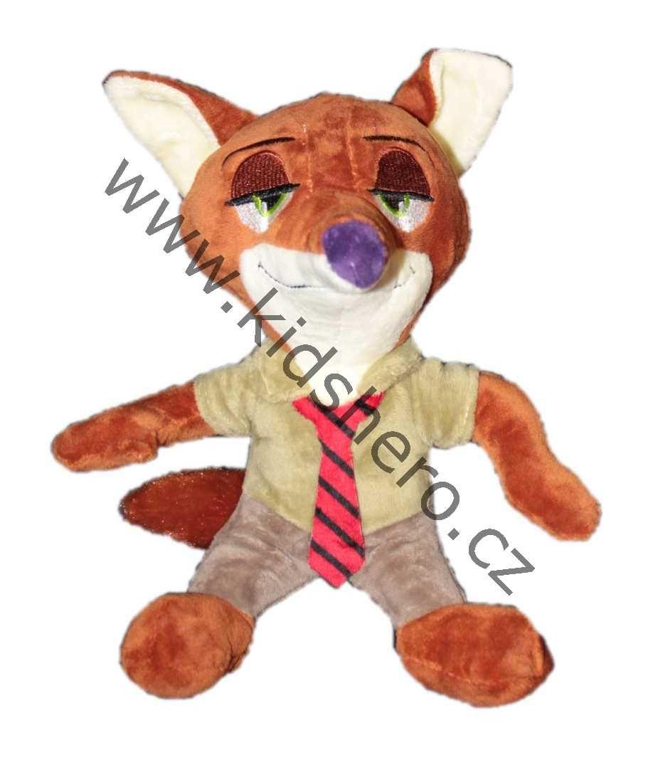 Plyšový lišák Nick ze Zootropolis, plyšák mazaný lišák, liška ze zootropolis