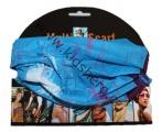 Šátek, nákrčník - slabý - modro-fialový