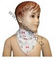 Šátek na krk - bílý - mašle