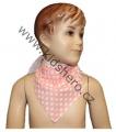 Šátek na krk - oranžovo-bílý - puntík