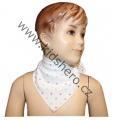 Šátek na krk - bílý - puntík