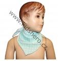 Šátek na krk - zeleno-bílý - puntík