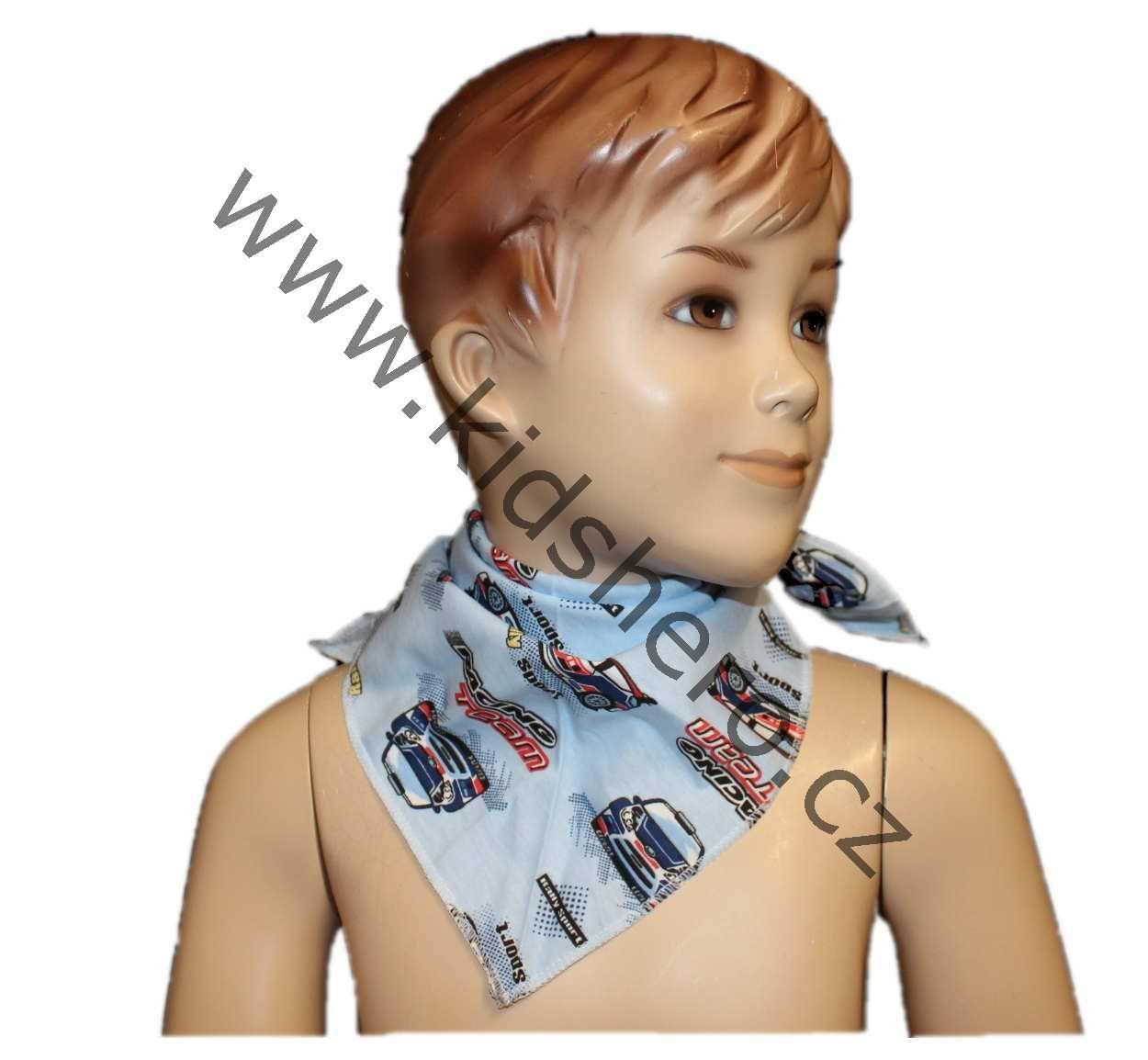 Šátek, nákrčník, dětský nákrčník, dětský šátek na krk, šátek na hlavu