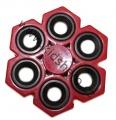 SPINNER - FIDGET - šestiložiskový - kovový - červený