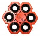 SPINNER - FIDGET - šestiložiskový - kovový - oranžový