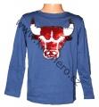 Měnící tričko, triko - dl.rukáv - chlapecké - s býkem - sv.modré