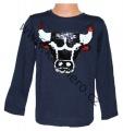 Měnící tričko, triko - dl.rukáv - chlapecké - s býkem - tm.modré