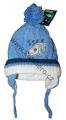 Kojenecká zimní čepice se zavazováním - tm.modrá