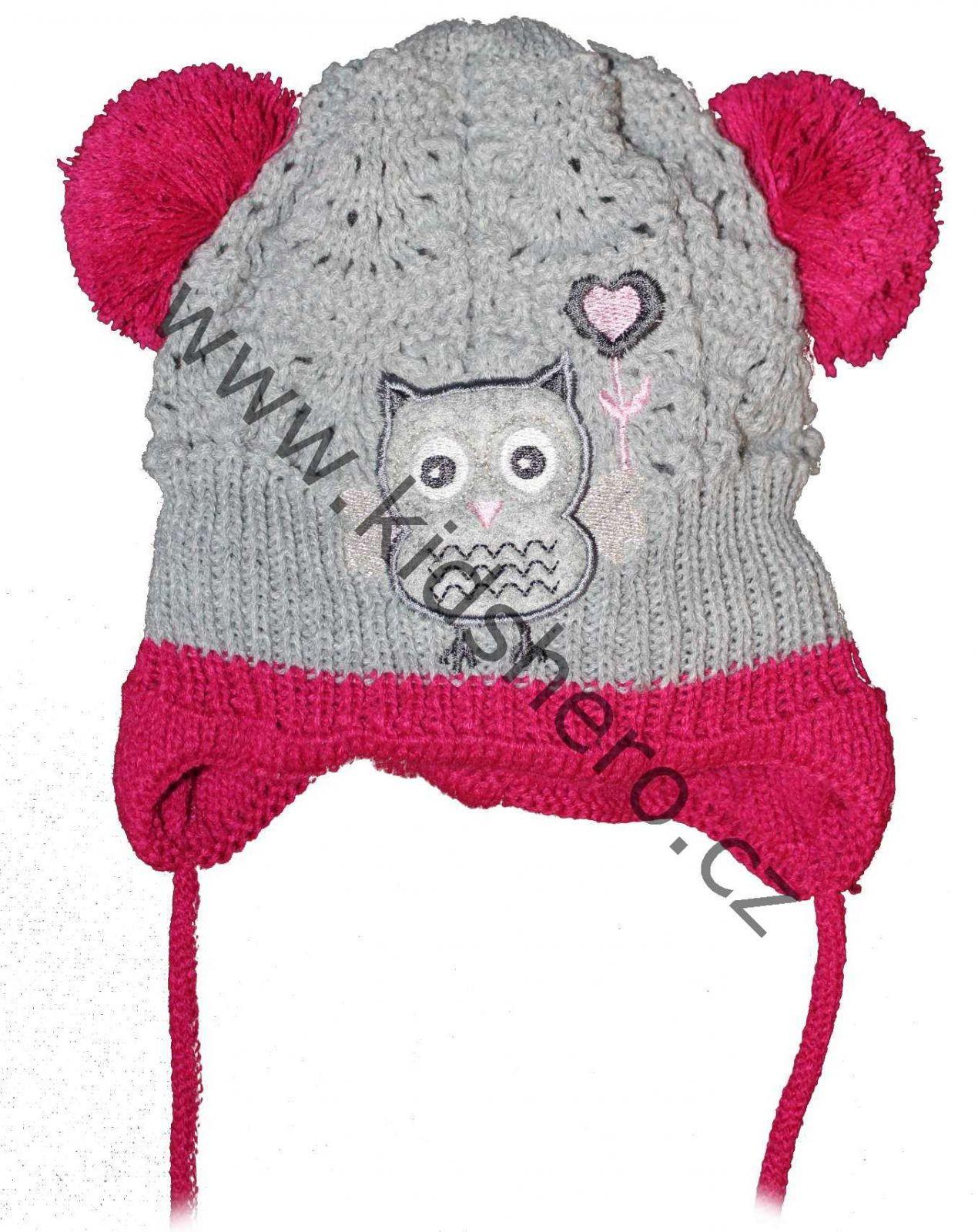 dětská čepice, kojenecká čepice, čepice pro miminka, zimní čepice, dívčí čepice, teplá čepice, vyteplená čepice, pletená čepice