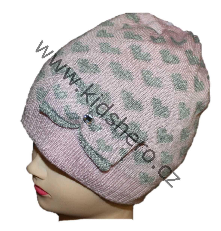 dětská čepice, zimní čepice, dívčí čepice, teplá čepice, vyteplená čepice, pletená čepice