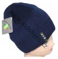 Dětská zimní čepice - tm.modrá