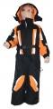 Dětská zimní kombinéza - černo-oranžová