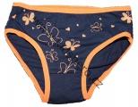Dívčí bavlněné kalhotky - oranžové