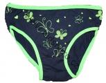 Dívčí bavlněné kalhotky - zelené