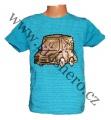 Měnící tričko kr.rukáv - chlapecké - sv.modré - auto