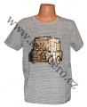 Měnící tričko kr.rukáv - chlapecké - sv.šedé - auto