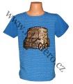 Měnící tričko kr.rukáv - chlapecké - tm.modré - auto