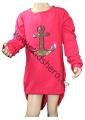 Měnící tričko, tunika - kotva - tm.růžové