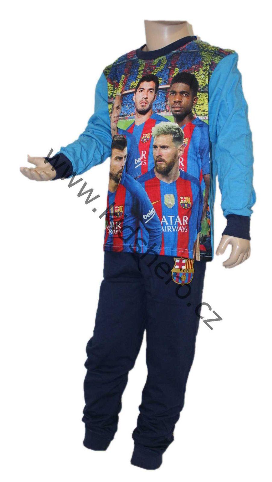 Dětské pyžamo FC BARCELONA, chlapecké pyžamo fotbal, pyžamo barcelona