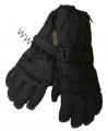 Dětské zimní rukavice - prstové - černé - rozepínací