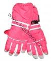 Dětské zimní, lyžařské rukavice - prstové - červené - rozepínací