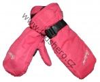 Dětské zimní rukavice - palčáky - oranžové