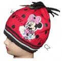 Dětská čepice s Minnie - puntík - červená