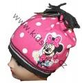 Dětská čepice s Minnie - puntík - růžová