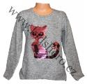 Měnící svetr s kočkou - velký