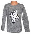 Měnící svetr - šedý s koněm
