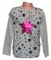 Měnící tričko, tunika - dl.rukáv - šedé - hvězda - malé