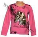 Měnící tričko, tunika - dl.rukáv - sv.růžové - kůň - malé