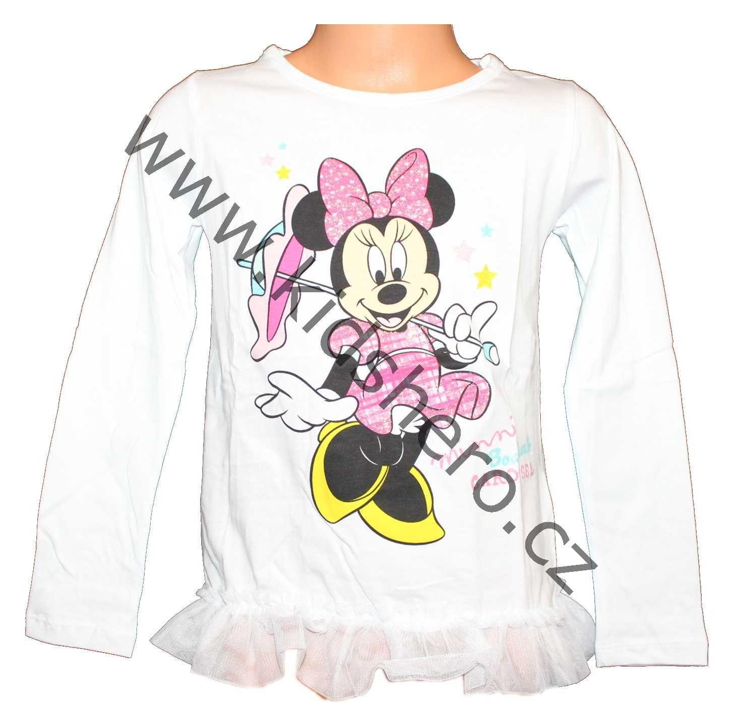 Triko dlouhý rukáv Minnie tunika Minnie dívčí tričko minnie dětské triko minnie tričko disney