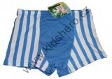 Bambusové boxerky - pruhy - tm.modré