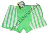 Bambusové boxerky - pruhy - zelené