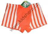 Bambusové boxerky - pruhy - oranžové