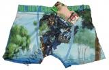 Bambusové boxerky - GORMITI - tm.modré
