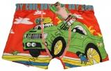 Boxerky s auty - bambusové - oranžové 2