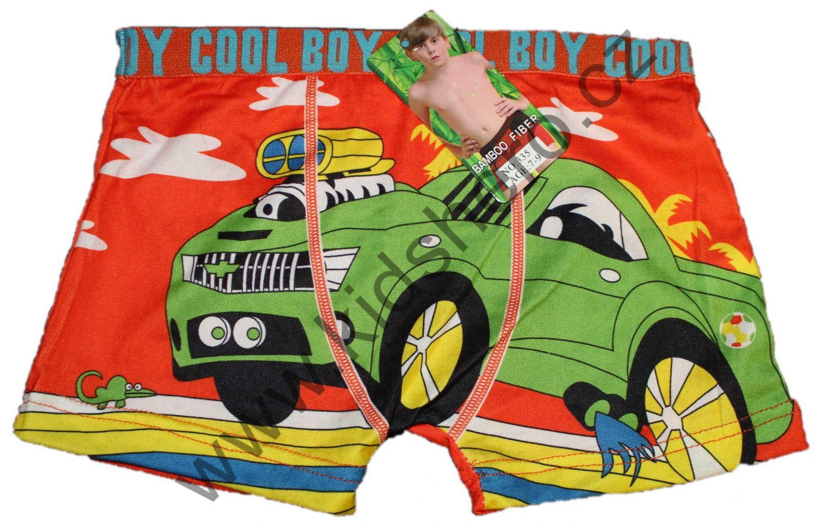 chlapecké boxerky s auty, boxerky cars, trenky cars, trenkoslipy, bambusové boxerky