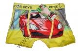 Babmusové boxerky auta 3 - žluté