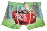 Babmusové boxerky auta 3 - zelené