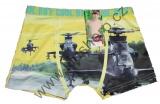Bambusové boxerky s vrtulníky - žluté