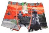 Bambusové boxerky s vrtulníky - oranžové