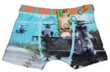Bambusové boxerky s vrtulníky - sv.modré