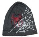 Dětská bavlněná čepice - Spider - tm.šedá