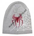 Dětská bavlněná čepice - Spider - sv.šedá