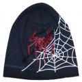 Dětská bavlněná čepice - Spider - modrá